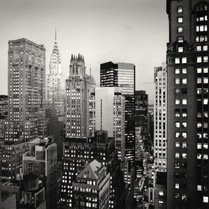 Midtown Twilight, New York, 2006 8 x 7.75 inches edition of 45 toned silver print