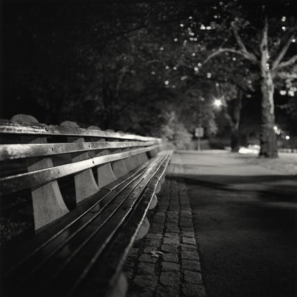 Central Park Bench, New York, 2000 8 x 7.75 inches edition of 45 toned silver print