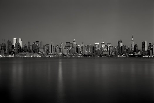 Manhattan Skyline, Study 2, New York, 2006 5.75 x 9.5 inches edition of 45 toned silver print