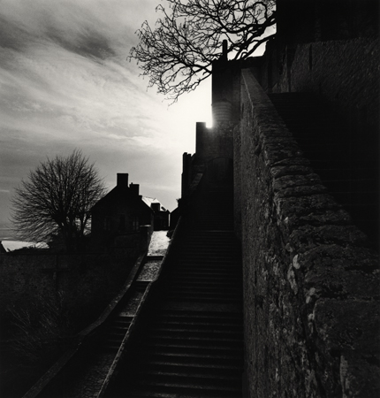 Clearing Storm, Mont St. Michel, France, 1991 8 x 7.75 inches edition of 45 toned silver print
