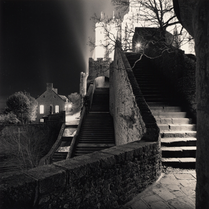 Outer Staircase, Mont St. Michel, France, 2004 7.75 x 7.75 inches edition of 45 toned silver print