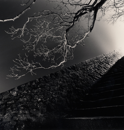 Night Steps, Mont St. Michel, 2004 7.75 x 7.75 inches edition of 45 toned silver print