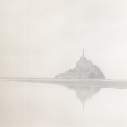 Dawn Mist, Mont St. Michel, France, 1994 7.25 x 7.25 inches edition of 45 toned silver print