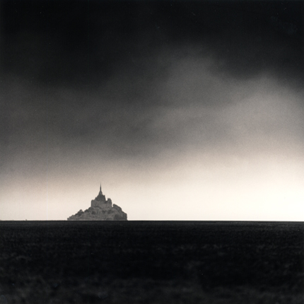 Distant Abbey, Mont St. Michel, France, 2000 7.75 x 7.5 inches edition of 45 toned silver print