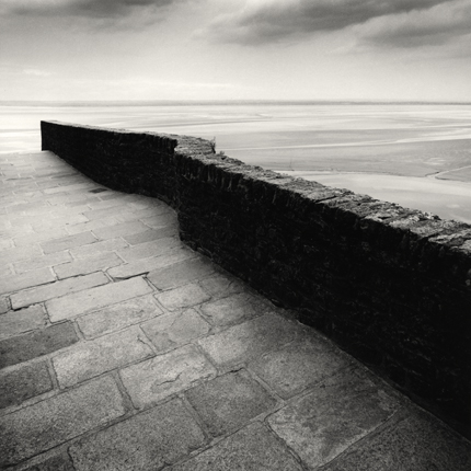 Winding Wall, Mont St. Michel, France, 2004 7.75 x 7.5 inches edition of 45 toned silver print