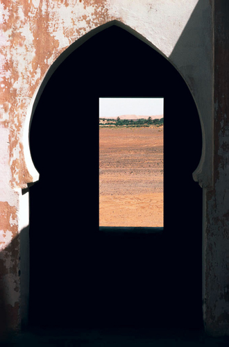 The Two Doors, 1980 75 x 50 inches edition of 10 chromogenic dye coupler print back and front mounted to plexiglass