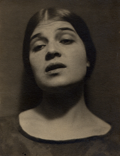 Edward Weston Tina Modotti, Mexico, 1924 3.75 x 2.5 inches vintage platinum print