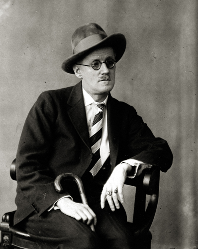 Berenice Abbott James Joyce, 1928 3.75 x 3 inches vintage silver print