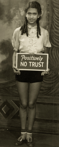 James Van Der Zee Untitled (Positively No Trust), c.1920 6 x 2.5 inches vintage silver print