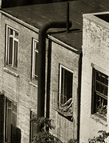 André Kertész Woman's Legs Out Window, 1962 4.9 x 3.75 inches vintage silver print