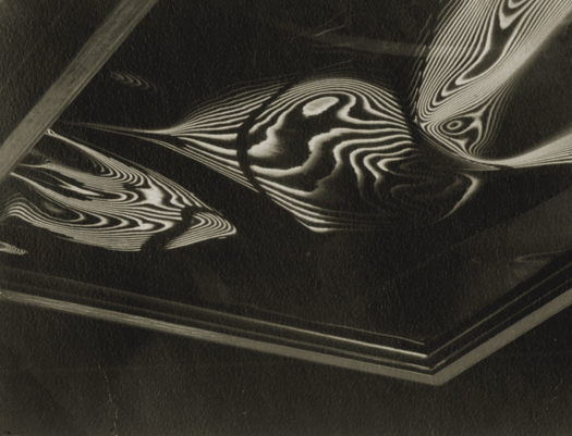 Carlotta Corpron Fluid Light Design, c.1930s 2.5 x 3.25 inches vintage silver print