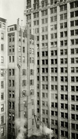 Walker Evans Untitled (New York Architectural Study), c.1929 4.25 x 2.5 inches vintage silver print
