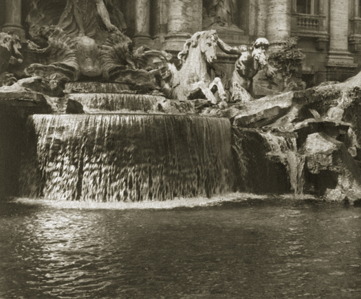 Alvin Langdon Coburn Fountain at Trevi, c.1900s 3.6 x 4.5 inches vintage platinum print