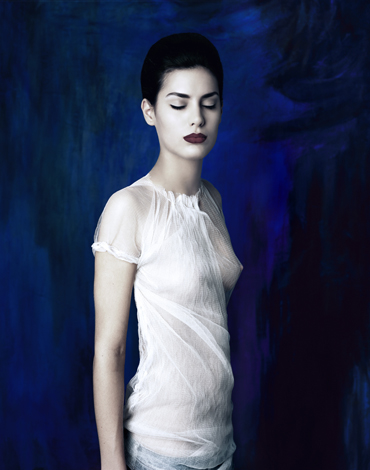 Chica Azul, 2006 63 x 50 inches edition of 10 lambda print mounted to sintra board