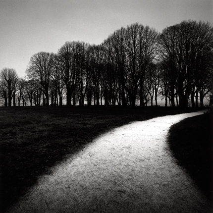 Moonlit Path, Vezelay, Bourgogne, France, 1998 7.5 x 8 inches edition of 45 toned silver print