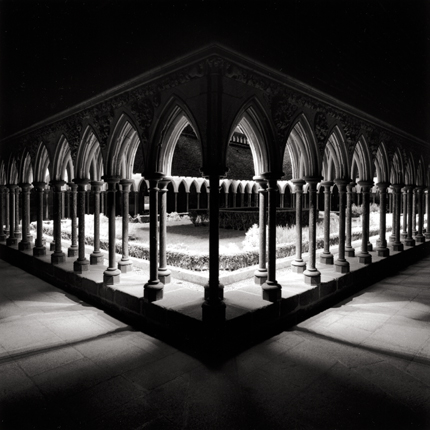 Cloisters, Mont St. Michel, France, 2000 7.5 x 7.75 inches edition of 45 toned silver print