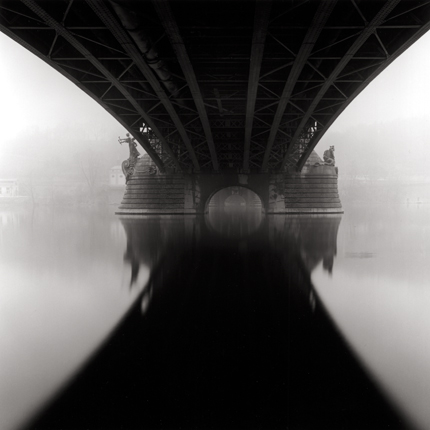 Czech Bridge, Prague, Czechoslovakia, 1996 7.5 x 8 inches edition of 45 toned silver print
