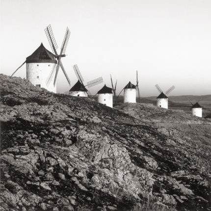 Quixote's Giants, Study #8, Consuegra, La Mancha, Spain, 1996 7.5 x 8 inches edition of 45 toned silver print