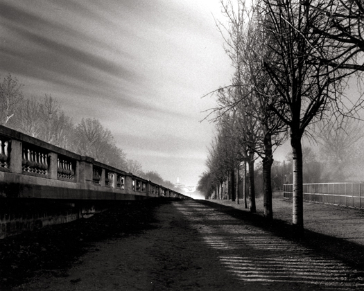 Tuilleries, Gardens, Paris, France, 1987 7 x 9 inches edition of 45 toned silver print