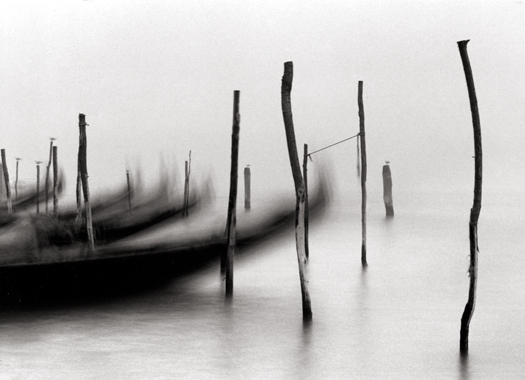 Gondolas, Venice, Italy, 1980 6 x 9 inches edition of 45 toned silver print