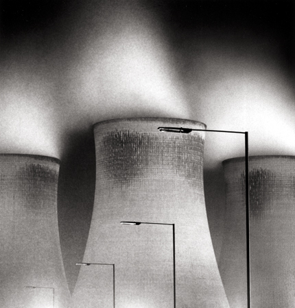 Didcot Power Station, Study #1, Oxfordshire, England, 1989 8 x 7.5 inches edition of 45 toned silver print