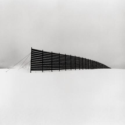 Snow Fence, Shosanbetsu, Hokkaido, Japan, 2004 7.5 x 7.75 inches edition of 45 toned silver print