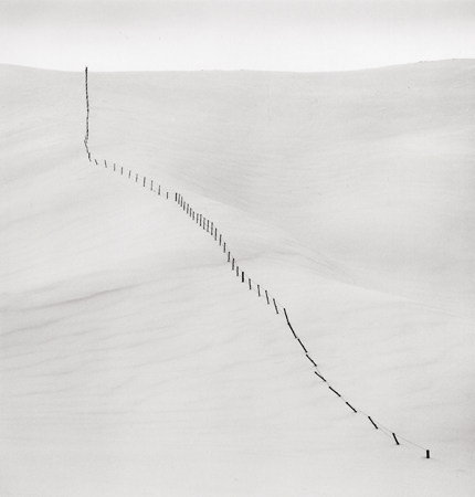 Hillside Fence, Study #5, Teshikaga, Hokkaido, Japan, 2004 7.75 x 7.5 inches edition of 45 toned silver print