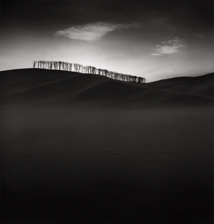Hilltop Trees, Study #2, Teshikaga, Hokkaido, Japan, 2004 8 x 7.75 inches edition of 45 toned silver print
