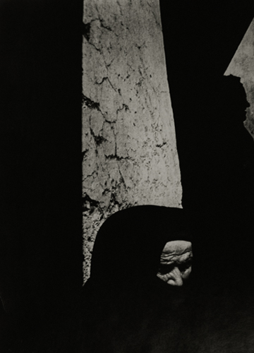 Woman in Shadows, 1951 from  Spanish Village, Life Magazine  20 x 16 inches silver print