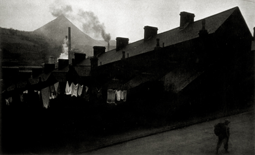 Row Houses with Laundry and Man, 1950 from  Great Britain, Life Magazine  (unpublished) 5 x 8 inches silver print