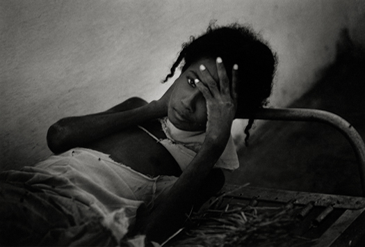 Haitian Patient, Haiti, 1959 8.5 x 13 inches vintage silver print