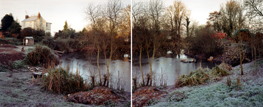 December 1996 from the series  Upton Pyne  27 x 34 inches (2 prints) edition of 8 chromogenic dye coupler prints