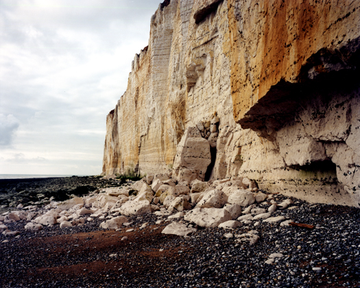 Seaford Head, November 1999 from the series  Rockfalls  36 x 45 inches edition of 6 chromogenic dye coupler print