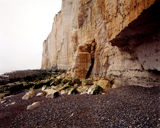 Seaford Head, May 2000 from the series  Rockfalls  36 x 45 inches edition of 6 chromogenic dye coupler print