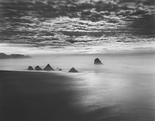 Triangle Rocks, Garrapata Beach, 1998 20 x 24 inches (edition of 25) 26 x 32 inches (edition of 10) 44 x 56 inches (edition of 5) silver print
