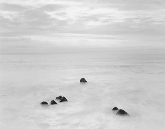 Six Rocks, One Bird, Garrapata Beach, 2002 20 x 24 inches (edition of 25) 26 x 32 inches (edition of 10) 44 x 56 inches (edition of 5) silver print