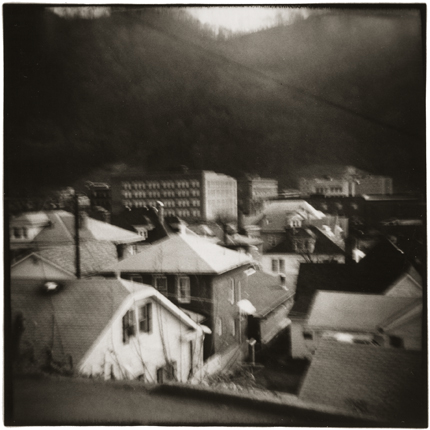 Town and Mountain, Pomeroy, Ohio (date unknown) 10 x 8 inches vintage silver print