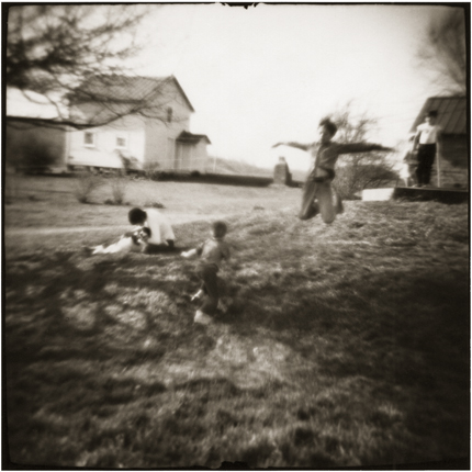 Boys Flying, Amesville, Ohio, 1976 10 x 8 inches vintage silver print