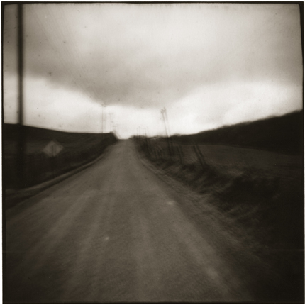 Road, Omega, Ohio, 1974 10 x 8 inches vintage silver print