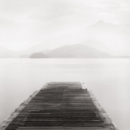 Boat Ramp, Lake Kawaguchi, Honshu, Japan, 2001 7.75 x 7.5 inches edition of 45 toned silver print