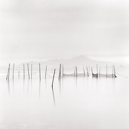 Fishing Nets and Mount Daisen, Yatsuka, Honshu, Japan, 2001 7.75 x 7.75 inches edition of 45 toned silver print