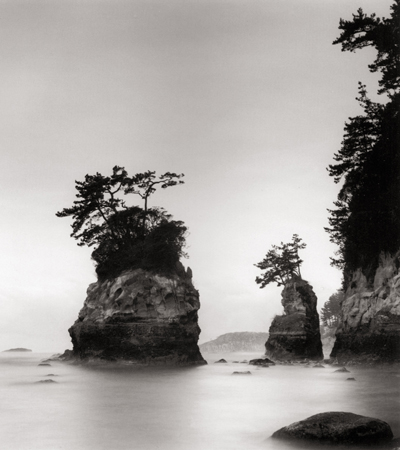 Sheltered Cove, Tojimbo, Honshu, Japan, 2002 7.75 x 7.75 inches edition of 45 toned silver print