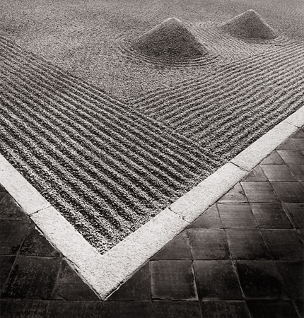 Sand Garden, Daisen-In Temple, Kyoto, Honshu, Japan, 2001 8 x 7 inches edition of 45 toned silver print