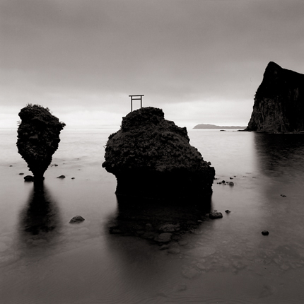 Rock Formations, Yoichi, Hokkaido, Japan, 2002 7.5 x 7.5 inches edition of 45 toned silver print