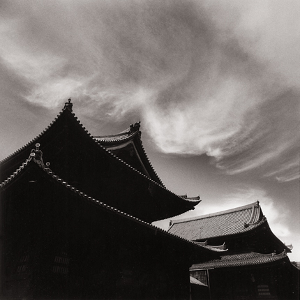 Afternoon Clouds, Miyoshin Temple, Kyoto, Japan, 2001 7.5 x 8 inches edition of 45 toned silver print
