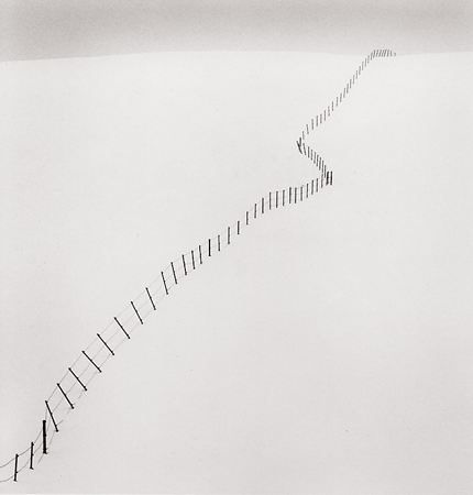 Hillside Fence, Study #2, Teshikaga, Hokkaido, Japan, 2002 7.75 x 7.5 inches edition of 45 toned silver print