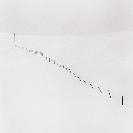 Hillside Fence, Study #1, Teshikaga, Hokkaido, Japan, 2002 7.75 x 7.5 inches edition of 45 toned silver print