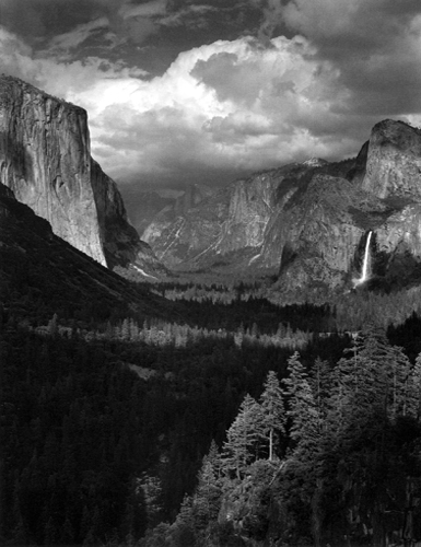 Thunderstorm, Yosemite Valley, California, 1945 19.5 x 15 inches silver print
