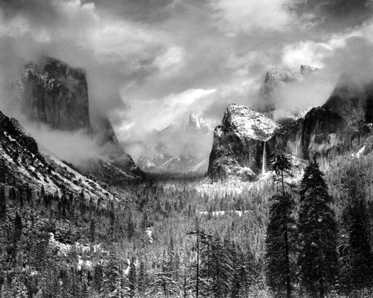 Clearing Winter Storm, Yosemite, California, 1944 15 x 19.5 inches silver print