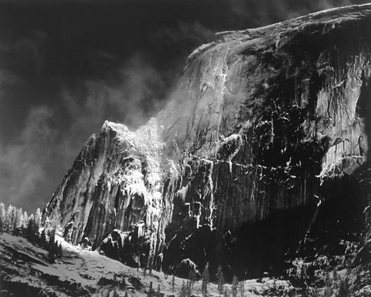 Half Dome Blowing Snow, Yosemite, California, c.1955 15.5 x 19.5 inches silver print